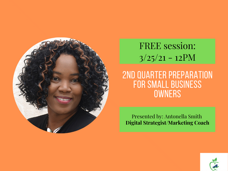 Online Session: 2nd Quarter Preparation for Small Business Owners