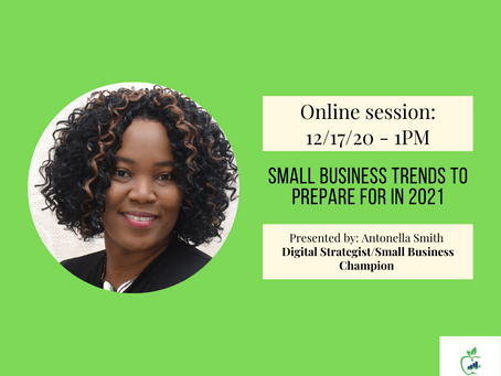Online Session: Small Business Trends to Prepare for in 2021