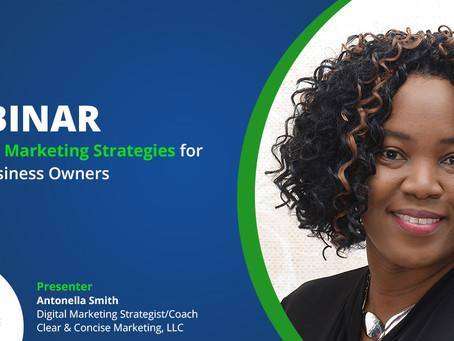 WEBINAR SESSIONS: Essential Marketing Strategies