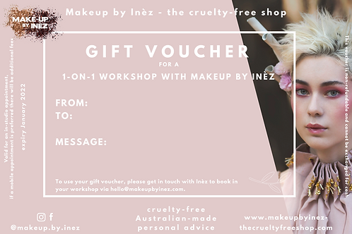 Gift Voucher 1-on-1 workshop