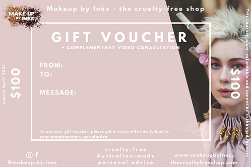 Gift Voucher (>$25) + Video Consultation