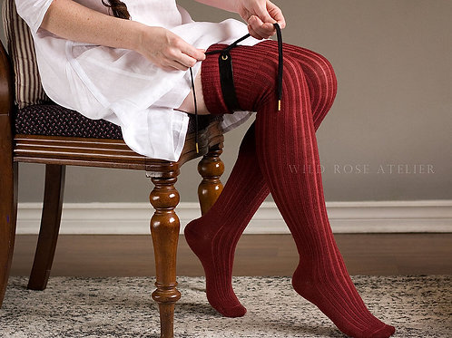 Ribbed Wool Stockings - Historical Reproduction