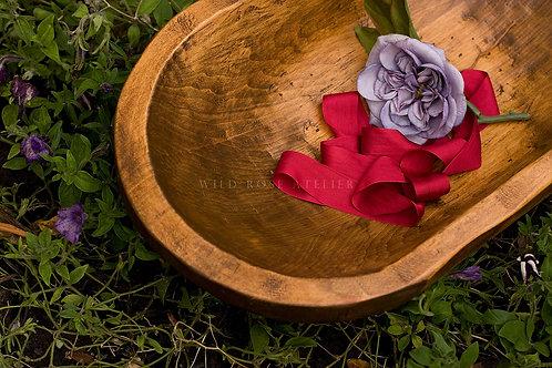 Silk Ribbon Remnants - Red
