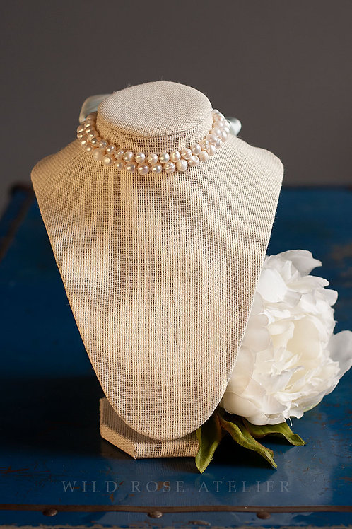 Sophia - Two Strand Pearl Necklace - 18th century reproduction jewelry