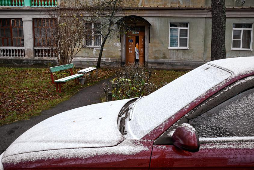 Morning snow, Kamennikovokiy