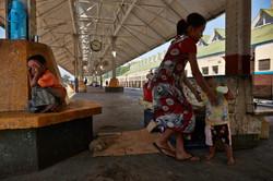 Life at Yangon train station