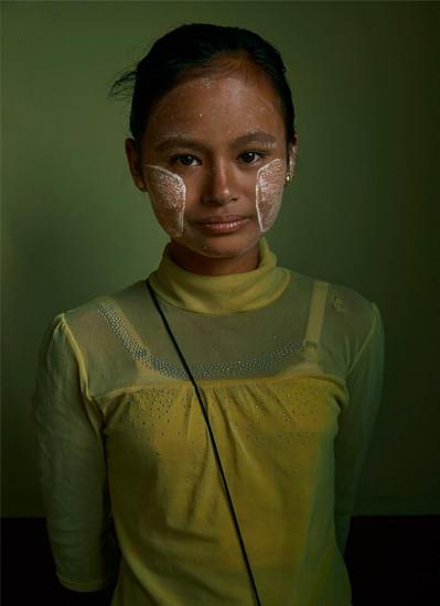 Burmese girl, Yangon