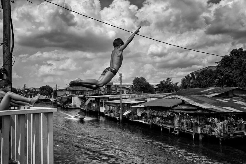 Childhood, Khlong Bang Luang, Bangkok