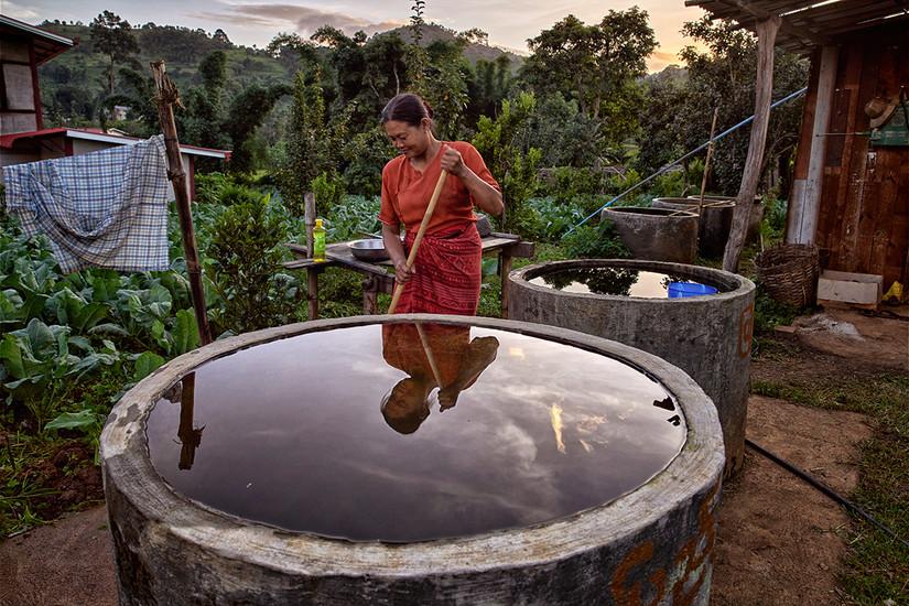 House work, Myin Ka Village, Kalaw