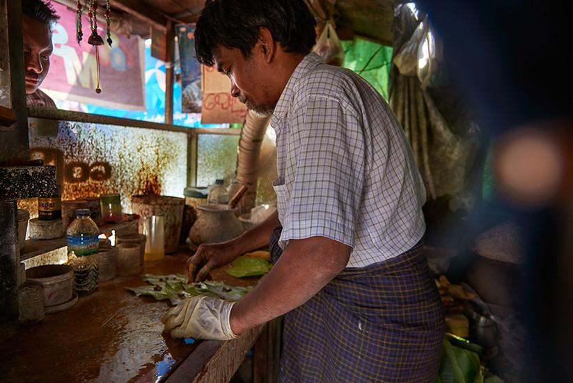 Street vendor, Mandalay