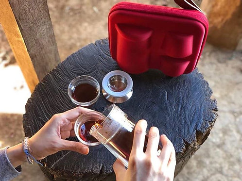 VOYAGE Traveling Glass Set for HandDrip Coffee