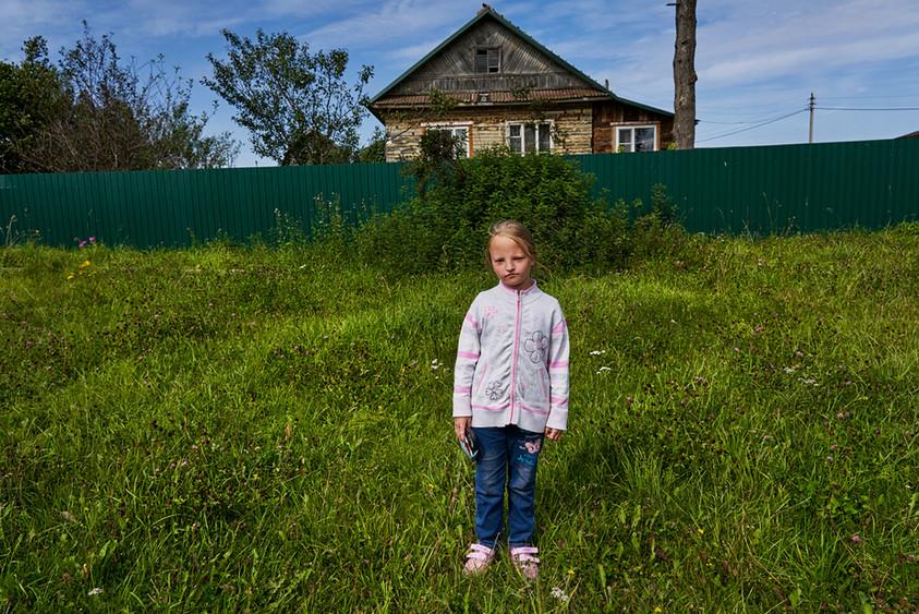 Village girl, Iskra-Oktyabrya, Rybinsk