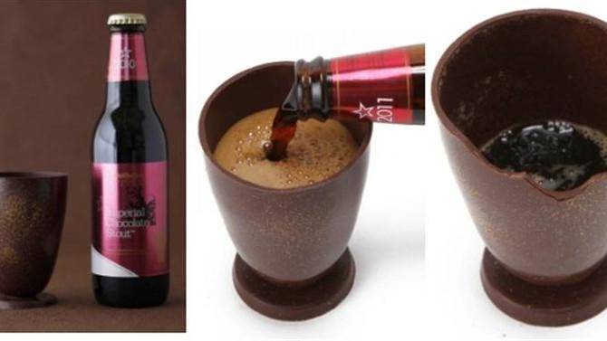 """""""เบียร์ช็อคโกแลต"""" ต้อนรับวาเลนไทน์ เครื่องดื่มสุดสร้างสรรค์ที่ดื่มกินได้จนหมดรวมทั้งถ้วยด้"""