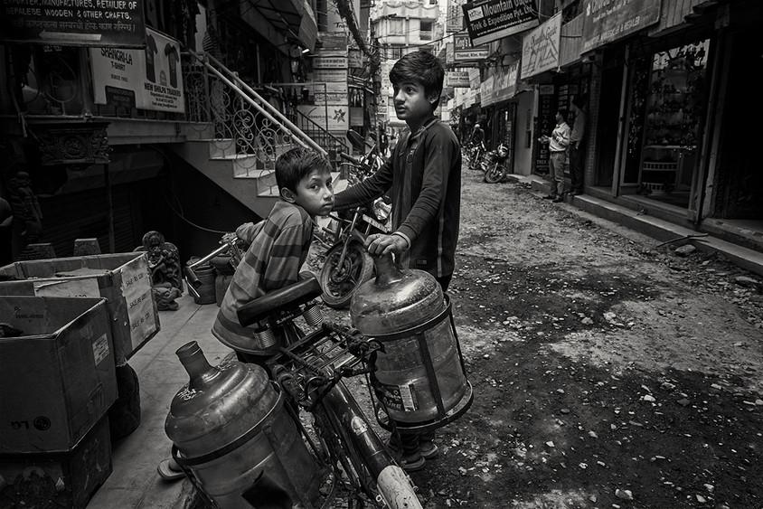 Water delivery, Kathmandu, Nepal