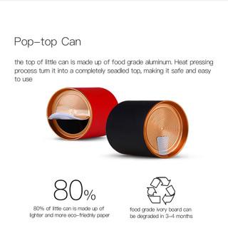 Aluminum Pop Top Can w Aluminum peel off
