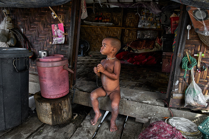 Burmese baby boy, Mandalay