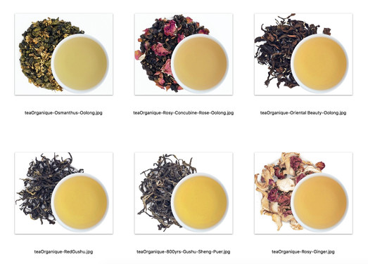 organic Tea collection