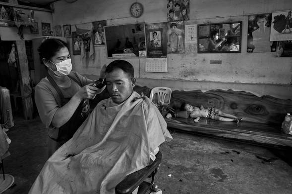 Haircut, Loei, Thailand