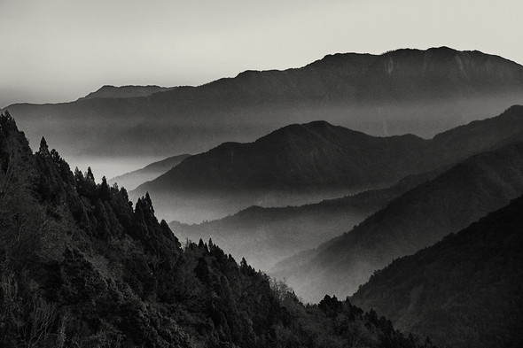 The moment before sunrise, Alishan