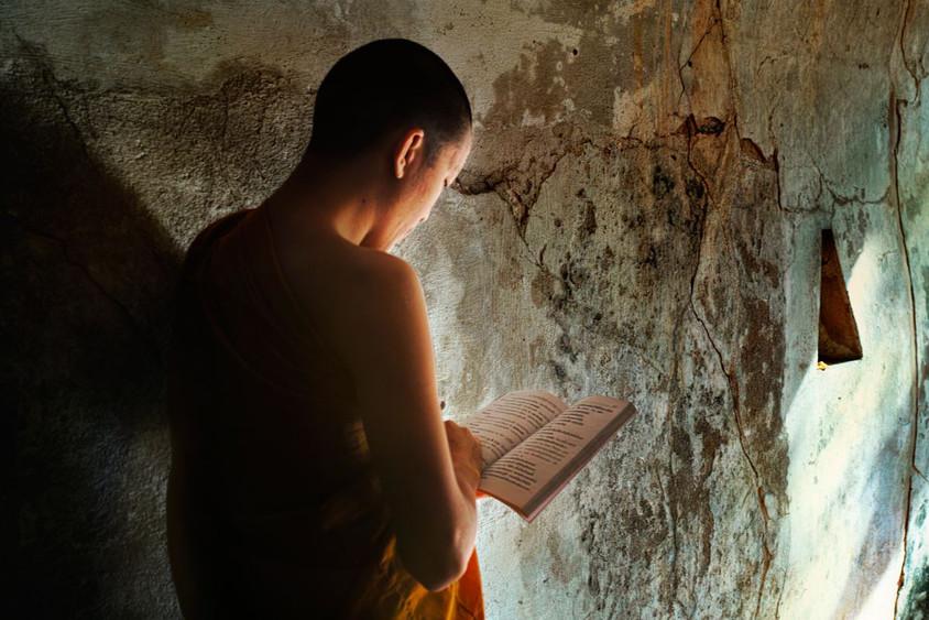 Reading, Wat Umong, Chiang Mai