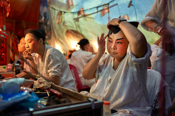 Backstage of Teochew Opera, Bangkok