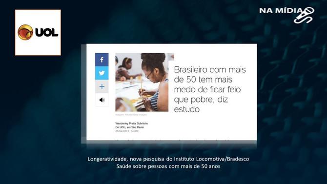 UOL: Brasileiro com mais de 50 tem mais medo de ficar feio que pobre, diz estudo