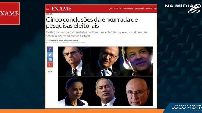 EXAME: Cinco conclusões da enxurrada de pesquisas eleitorais