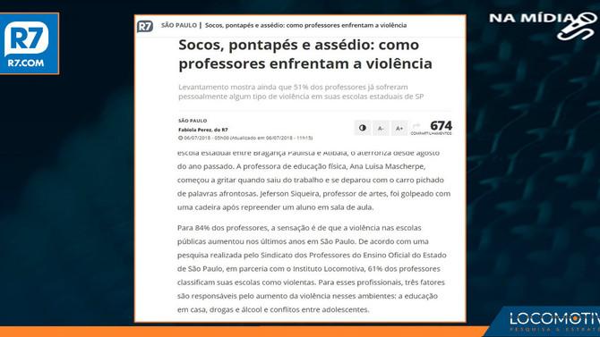 R7: Socos, pontapés e assédio: como professores enfrentam a violência