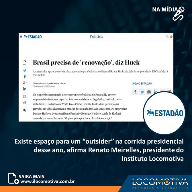 """Brasil precisa de """"renovação"""", diz Luciano Huck"""
