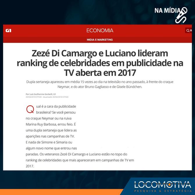 G1: Zezé Di Camargo e Luciano lideram ranking de celebridades em publicidade