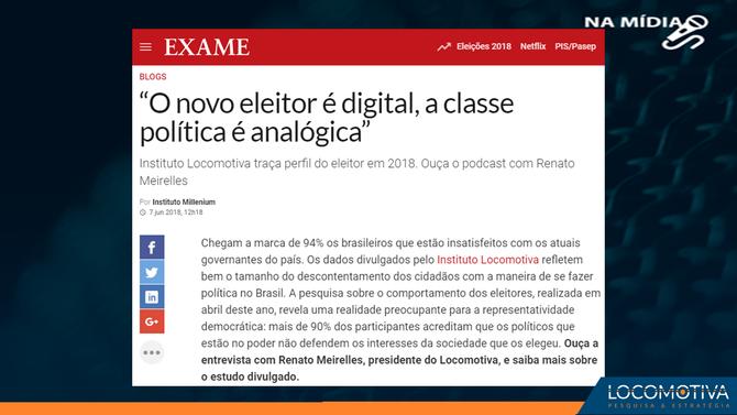"""Exame.com: """"o novo eleitor é digital, a classe política é analógica"""""""