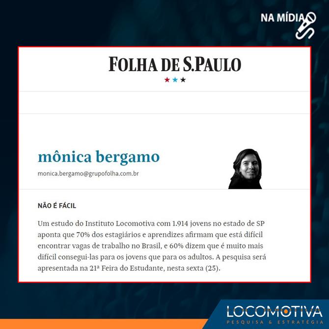 Mônica Bergamo: Não é fácil para jovens encontrar emprego