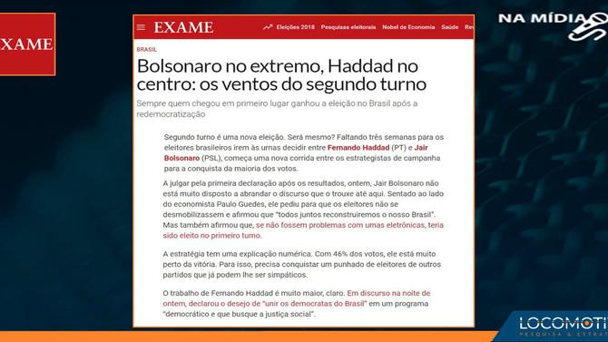 EXAME: Bolsonaro no extremo, Haddad no centro: os ventos do segundo turno