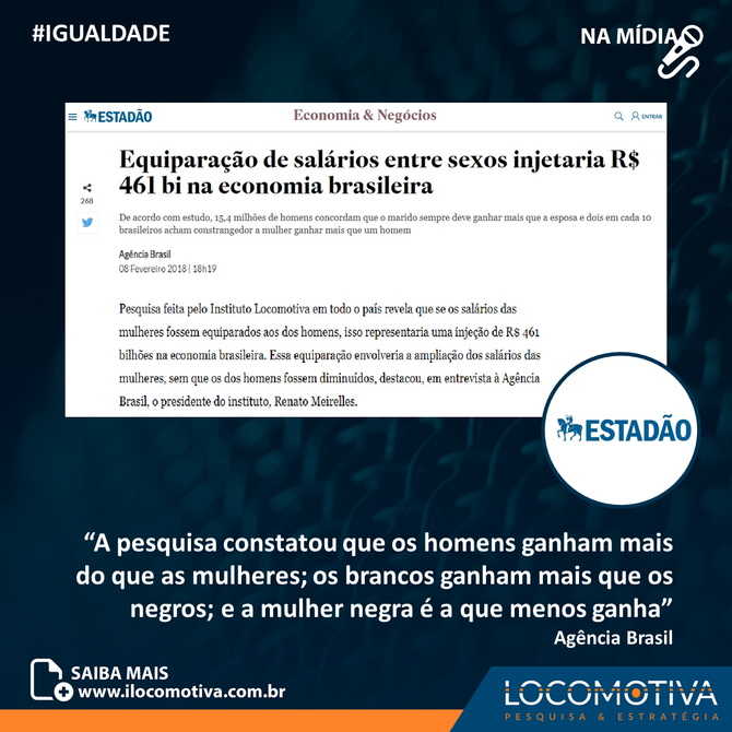 Estadão: Equiparação de salários entre sexos injetaria R$ 461 bi na economia