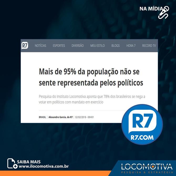 Mais de 95% da população não se sente representada pelos políticos