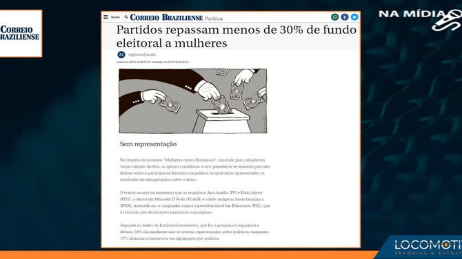 Correio Braziliense: Partidos repassam menos de 30% de fundo eleitoral a mulheres