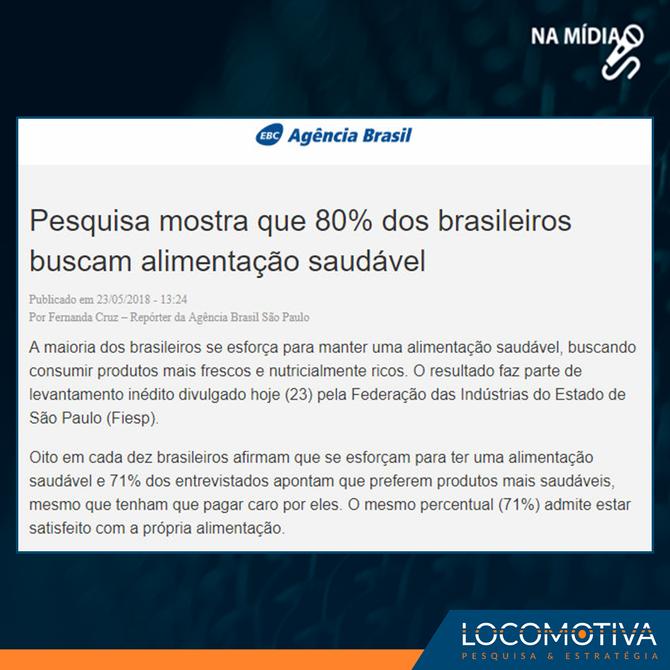 Agência Brasil: 80% dos brasileiros buscam alimentação saudável