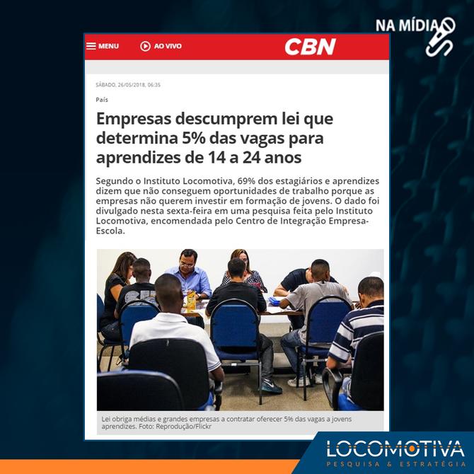 CBN: Empresas descumprem lei que determina 5% das vagas para aprendizes