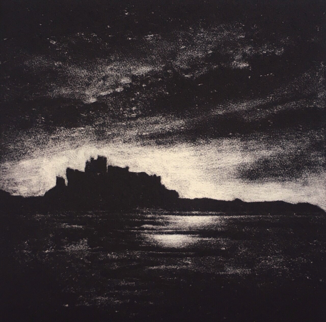 Evening Skies Mezzotint 10x10cm