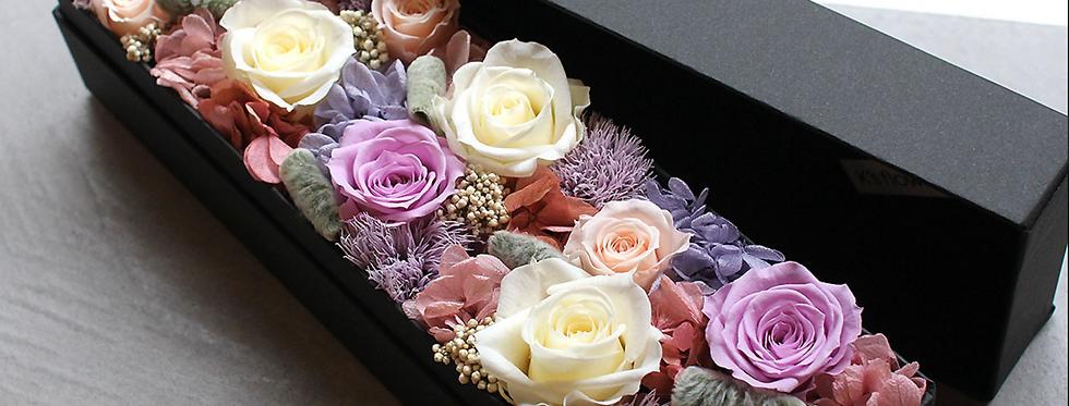 Fleurs fraîches, Écrin rectangulaire