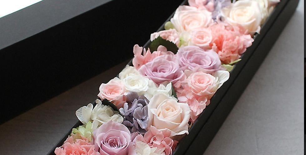Fleurs éternelles, Écrin rectangulaire