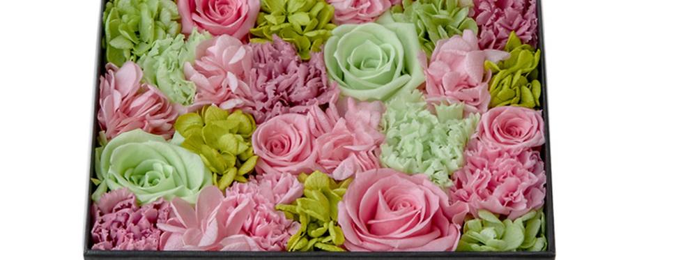 Fleurs fraîches, Écrin carré