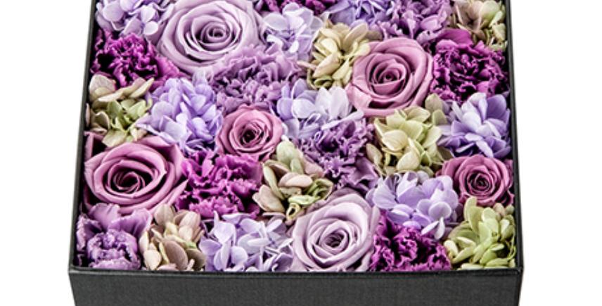 Fleurs éternelles, Écrin carré