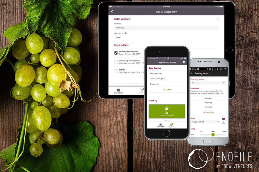 EnoFile - Home winemaking app adds shopping to it's list of features