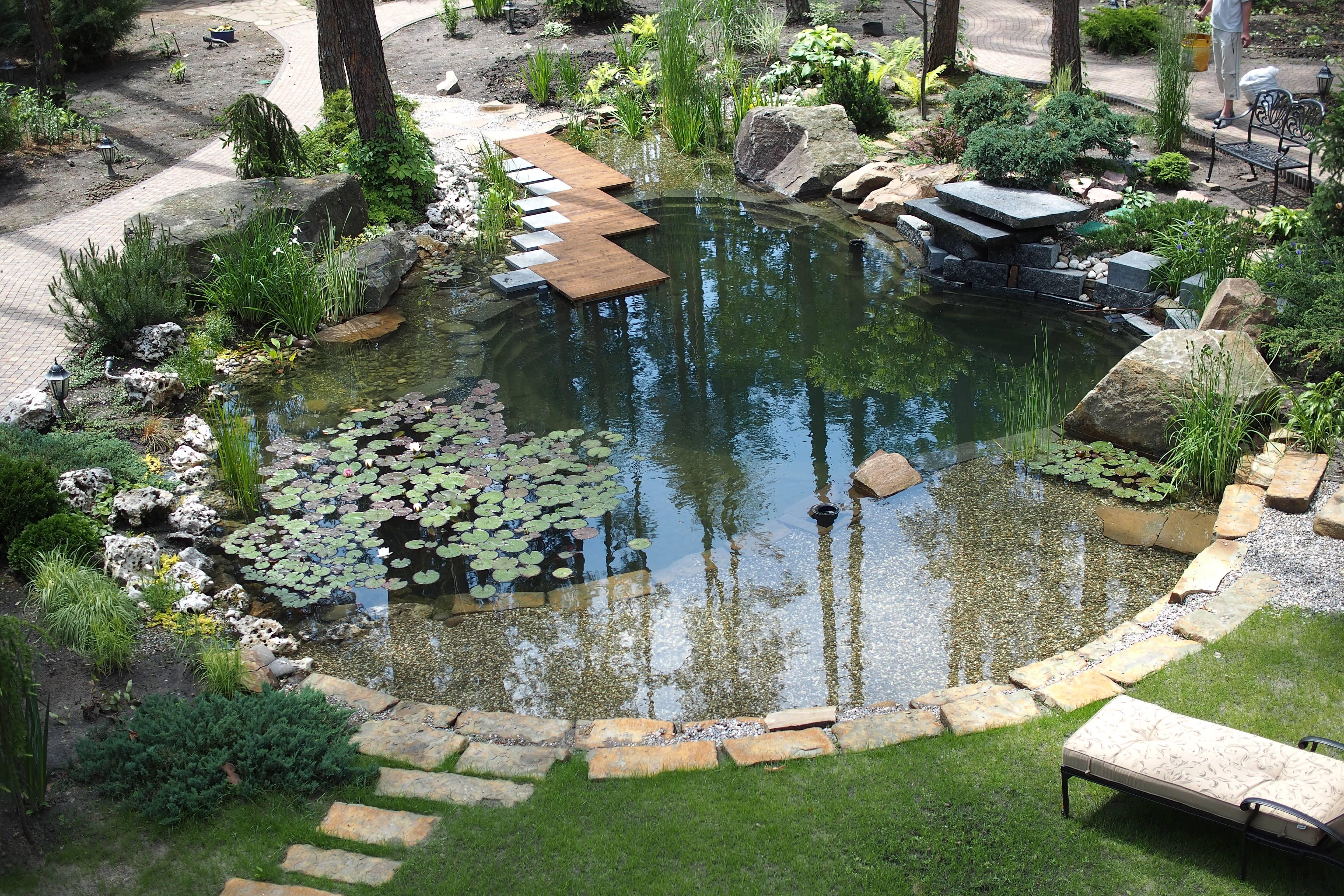 водяные лестницы ручей пруд фото ину