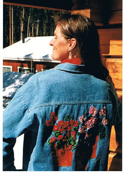 Heavily embroidered GicaArt blouse.