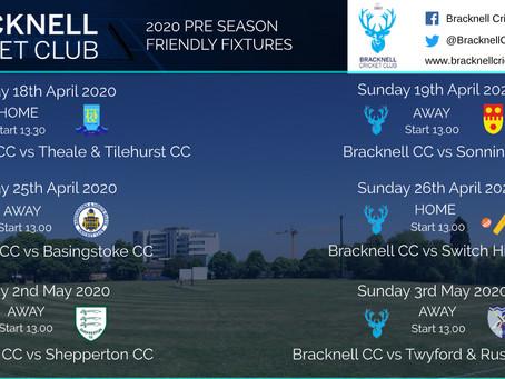 Pre-Season fixtures confirmed!