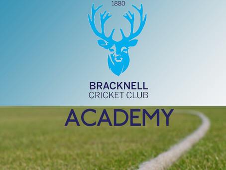 Bracknell Cricket Club Academy UPDATE