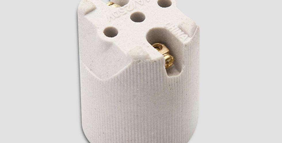 Bocal Porcelana E27 Brasfort