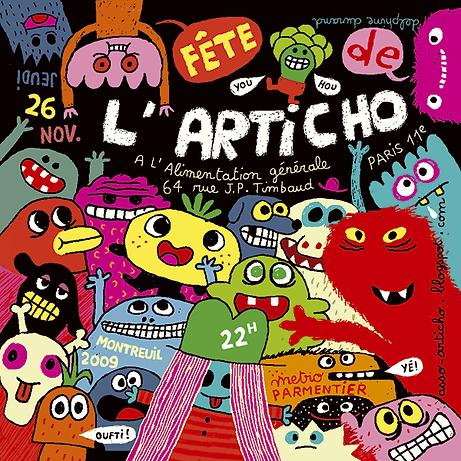 2009 - Fete de l'articho - Dessin de Del